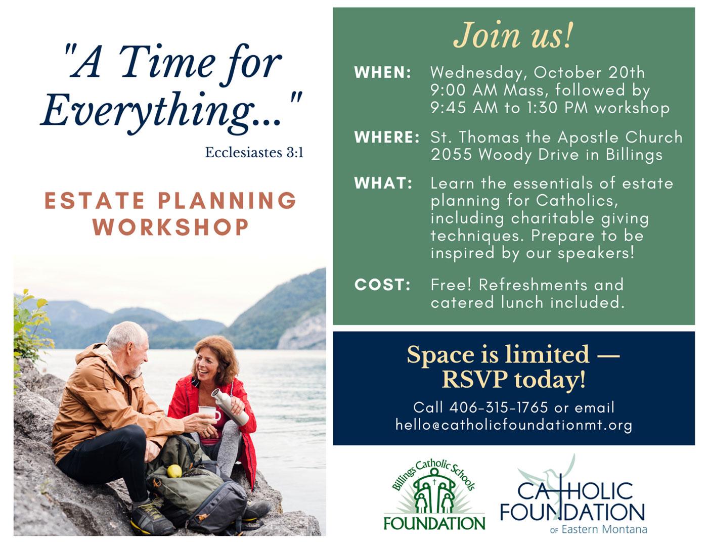 Estate Planning Workshop in Billings 10/20/21
